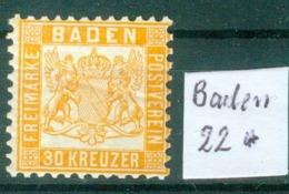 Baden 22   * / Unused With Original Gum   (L872) - Baden