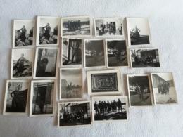 19 Photos Originale D'un Groupe / Soldats Camps Chantier De Jeunesse Français 1940 Pendant L'occupation - Guerre, Militaire