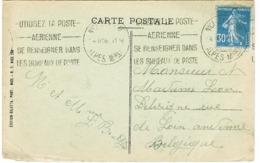199IIB SUR CPA POUR LA BELGIQUE - 1921-1960: Période Moderne
