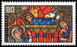 BRD MiNr. 3495 ** Serie Weihnachten 2019: Kirchenfenster - Geb. Christi, Postfr. - Ungebraucht