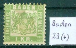 Baden 23    ( *) / Unused Without Gum   (L873) - Baden