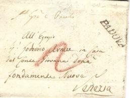 Lombardia-Veneto-  1830- Lettre De Padova  Nero  Vollmeier N°15 Taxe 2 Crayon Rouge Pour Venezia - Italia