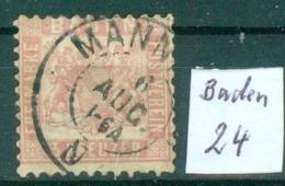 Baden  24    O / Used  (L875) - Baden
