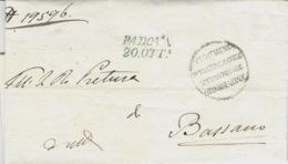 Lombardia-Veneto-  1840- Lettre De Padova / 20 OTTe Az.  Vollmeier N°18  Pour Bassano - Italia