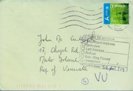 """Letter """"Return To Sender, Insufficient Address"""" From Vanuatu To Belgium (22/01/19) - Vanuatu (1980-...)"""