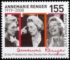 BRD MiNr. 3499 ** 100. Geburtstag Annemarie Renger, Postfrisch - Ungebraucht