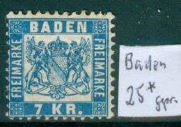 Baden 25   * / Unused With Original Gum   (L878) - Baden