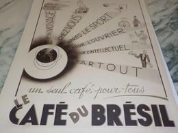 ANCIENNE PUBLICITE POUR TOUS  LE CAFE DU BRESIL  1937 - Posters