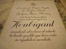 ANCIENNE PUBLICITE PARFUM PRESENCE DE HOUBIGANT 1935 - Sin Clasificación