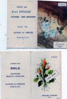 2 Calendriers De Poche Parfumés Années 60. Commerces De Authon-du-Perche. - Calendriers