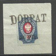ESTLAND Estonia 1918 German Occupation Dorpat Tartu 40 Pf O Line Cancel DORPAT Signed - Estland