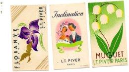 3 Petis Cartons Publicités De Parfum L.T. Piver Paris. Pub Pour Limeul à Authon - Reclame