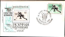 7228) AUSTRIA-FDC DELLA IX OLIMPIADE INVERNALE INNSBRUK  29-1-1964 - FDC