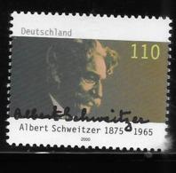 Germany 2000 Albert Schweitzer Humanitarian MNH - Ungebraucht