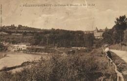 VILLENEUVE Sur LOT  Le Chateau De Massanès Au Bord Du Lot  Jeune Femme  RV - Villeneuve Sur Lot