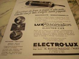 ANCIENNE PUBLICITE ASPIRATEUR ELECTRO-LUX 1934 - Reclame