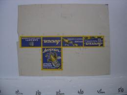 Ancienne Publicite Carton BOITE Fautee AD Insecticide Attrape Mouches AEROXON - Reclame