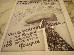 ANCIENNE PUBLICITE CONCOURS DE LA CASQUETTE ELINA  1934 - Reclame