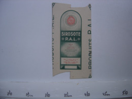Ancienne Publicite Carton BOITE Fautee AD Pharmacie Antiseptique SIROSOTE P.A.L - Reclame