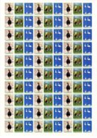 Turkmenistan 2016, Fauna, Birds, Big Sheet Of 10 Sets = 90v - Turkmenistán