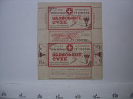 Ancienne Publicite Carton BOITE Fautee AD Pharmacie Gaze Hydrophile LA CIGOGNE - Reclame