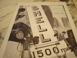 ANCIENNE PUBLICITE SERVICE SHELL HALTE 1931 - Reclame