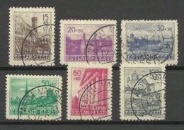 Estland Estonia 1941 German Occupation Michel 4 - 9 O - Occupazione 1938 – 45