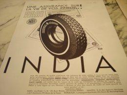 ANCIENNE PUBLICITE PNEU INDIA  1931 - Reclame
