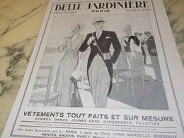 ANCIENNE PUBLICITE MAGASIN BELLE JARDINIERE MODE  1932 - Reclame