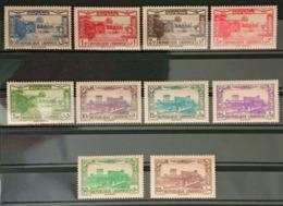 JI - Lebanon 1930 Complete Set 10v. Beiredine & Baalbeck MNH - Lebanon
