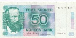 Norvège - Billet De 50 Kroner - A.O. Vinge - 1990 - P42c - Norvège