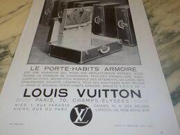 ANCIENNE PUBLICITE PORTE HABIT ARMOIRE  LOUIS VUITTON  1932 - Reclame