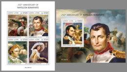 SIERRA LEONE 2019 MNH Napoleon Bonaparte M/S+S/S - OFFICIAL ISSUE - DH1933 - French Revolution