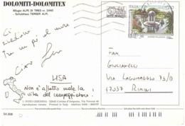 195 £750 DURAZZO PALLAVICINI SU CARTOLINA RIFUGIO ALPE DI TIRES - 6. 1946-.. Repubblica