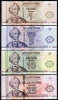Transnistria 2014 -  Set 1+5+10+25 Rubles - 20 Years Currency Pick NEW UNC Booklet - Banknoten