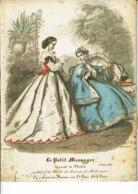 Reproduction De Lithographie -Le Petit Messager - Journal De Mode 1 Juin 1864 -Li3 - Repro's