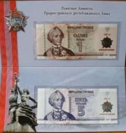 Transnistria 2017 - Set 1+5 Rubles - October Revolution - Pick NEW UNC Booklet - Banknoten