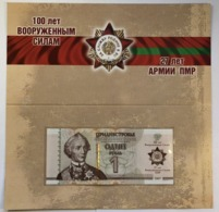 Transnistria 2018 - 1 Ruble - Armed Forces - Pick NEW UNC Booklet - Banknoten
