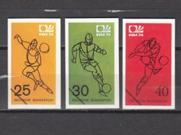 Football / Soccer / Fussball - WM 1974:  Germany  3 Vign (*) - Coppa Del Mondo