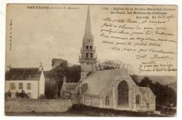 Cpa N° 759 Eglise De LA ROCHE MAURICE Au Fond Les Ruines Du Château - La Roche-Maurice