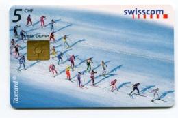 Telecarte °_ Suisse-41-Ski De Fond- R/V D68A ° TBE - Zwitserland