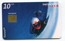 Telecarte °_ Suisse-42-Luge- R/V 1BE8 ° TBE - Zwitserland