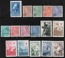 1954 Finland Complete Year Set Used. - Finland