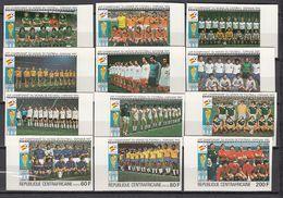 Football / Soccer / Fussball - WM 1982:  Central Afrika  12 W **, Imperf. - Fußball-Weltmeisterschaft