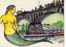 42 La Sirene De ST JUST ST RAMBERT, Illustrateur Agnes, Carte Double, Joutes - Saint Just Saint Rambert