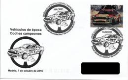 SPAIN. FDC. CAR TOYOTA CELICA. 2016 - Marcofilia - EMA ( Maquina De Huellas A Franquear)