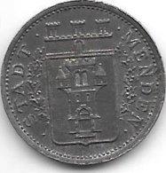 *notgeld  Menden 10 Pfennig 1917 Fe  328.5a - Andere