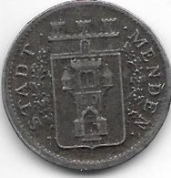 *notgeld  Menden 10 Pfennig 1919 Fe  328.8 - [ 2] 1871-1918 : Impero Tedesco