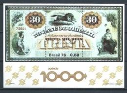 BRASIL 1976 ** MI-HB38 YT-BF37 THOUSANDTH AGENCY OF THE BANK OF BRAZIL (VER NOTA) - Blocks & Sheetlets