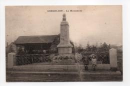 - CPA CORGOLOIN (21) - Le Monument - Cliché Ronco - - Other Municipalities